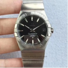 Replica Omega Constellation 123.10.38.21.01.001 38MM Stainless Steel Black Dial