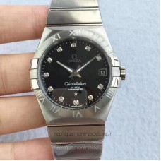 Replica Omega Constellation 123.10.38.21.51.001 38MM Stainless Steel Black Dial