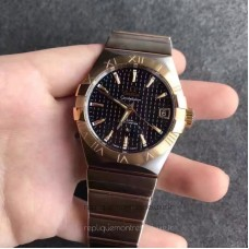 Replica Omega Constellation 123.20.38.21.01.002 38MM Stainless Steel /Yellow Gold Black Dial
