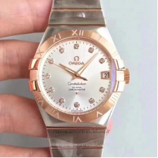 Replica Omega Constellation 123.20.38.21.52.001 38MM Stainless Steel /Rose Gold Rhodium Dial