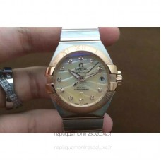 Réplique Omega Constellation Double Eagle Dame 27MM Acier inoxydable /Or rose Or Dial