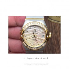 Réplique Omega Constellation Double Eagle Dame 27MM Acier inoxydable /Or jaune Or Dial