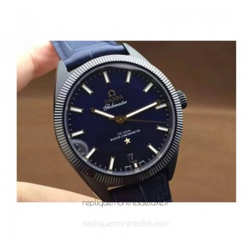 Réplique Omega Constellation Globemaster 39MM PVD Bleu Dial