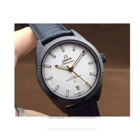 Réplique Omega Constellation Globemaster 39MM PVD Blanc Dial