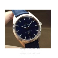 Réplique Omega Constellation Globemaster 39MM Or rose Bleu Dial