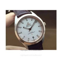 Réplique Omega Constellation Globemaster 39MM Acier inoxydable /Or rose Blanc Dial