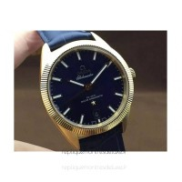 Réplique Omega Constellation Globemaster 39MM Or jaune Bleu Dial