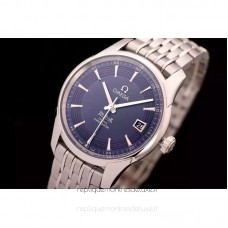 Replica Omega De Ville 41MM Stainless Steel Blue Dial