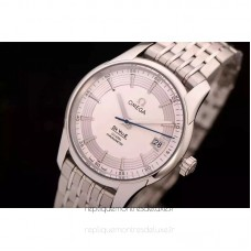 Replica Omega De Ville 41MM Stainless Steel White Dial