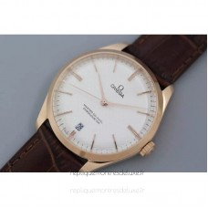 Replica Omega Master 40MM Rose Gold White Dial