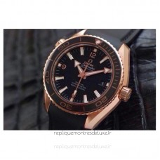 Replica Omega Planet Ocean Professional 42MM Rose Gold Black Dial