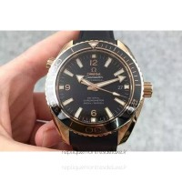 Réplique Omega Planet Ocean Professional 45MM Or rose Noir Dial
