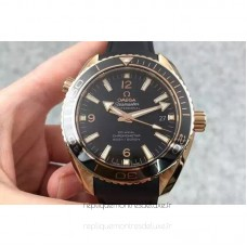 Replica Omega Planet Ocean Professional 45MM Rose Gold Black Dial