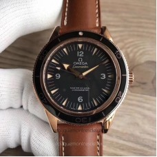Replica Omega Seamaster 300M Co-Axial 41MM 233.62.41.21.01.002 Rose Gold Black Dial