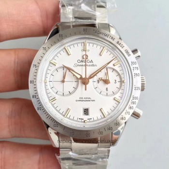 Réplique Omega Speedmaster 57 Co-Axial Chronographe 41.5MM 331.10.42.51.02.002 Acier inoxydable Blanc Dial