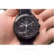 Replica Omega Speedmaster Moonwatch Anniversary Silver Snoopy PVD Black Dial