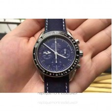 Replica Omega Speedmaster Moonwatch Anniversary Silver Snoopy Stainless Steel Blue Dial