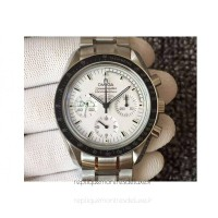 Réplique Omega Speedmaster Moonwatch Anniversaire argent Snoopy Acier inoxydable Blanc Dial
