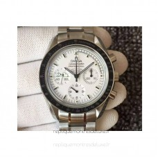 Replica Omega Speedmaster Moonwatch Anniversary Silver Snoopy Stainless Steel White Dial