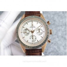 Replica Omega Speedmaster Moonwatch Limited Edition Rose Gold White Dial