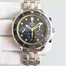 Replica Omega Seamaster Diver 300M Chronograph 212.30.44.50.01.002 Stainless Steel Black /Yellow Dial