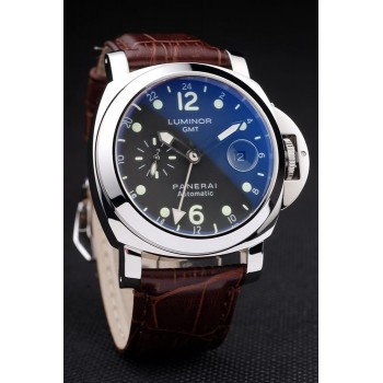 Réplique Montre Panerai Luminor 3 Days Automatic GMT cadran noir