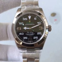 Replica Rolex Air-King 116900 Stainless Steel Black Dial