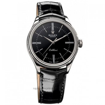 Replica Rolex Cellini 50509 MK Stainless Steel Black Dial