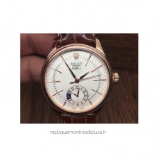 Réplique montre Cellini 50525 cadran blanc en or rose