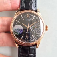 Réplique montre Cellini Date 50515 Cadran Noir Or Rose