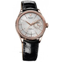 Réplique montre Cellini Date 50515 Cadran Blanc Cadran Or Rose