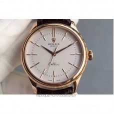 Replica Rolex Cellini Time 50505 Rose Gold White Dial