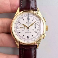 Replica Rolex Chronographe 66658 Yellow Gold White Dial