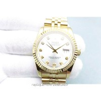 Réplique montre Datejust 116238-0079 Cadran Rhodium Or Jaune 36MM