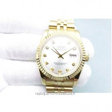 Replica Rolex Datejust 116238-0079 36MM Yellow Gold Rhodium Dial