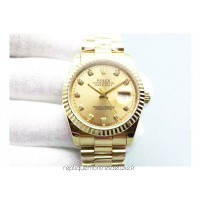 Replica Rolex Datejust 116238 36MM Yellow Gold Champagne Dial