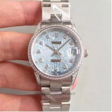 Replica Rolex Datejust 31 178159 31MM Stainless Steel & Diamonds Blue Dial