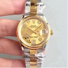 Replica Rolex Datejust 31 178243 31MM Stainless Steel & Yellow Gold Champagne Dial