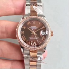 Replica Rolex Datejust 31 178341 31MM Stainless Steel & Rose Gold Chocolate Dial