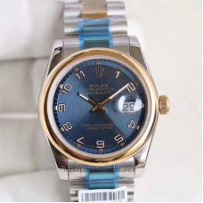 Replica Rolex Datejust 36 116203 36MM Stainless Steel & Yellow Gold Blue Dial