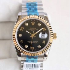 Replica Rolex Datejust 36 116233 36MM Stainless Steel & Yellow Gold Black Dial