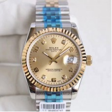 Replica Rolex Datejust 36 116233 36MM Stainless Steel & Yellow Gold Champagne Dial