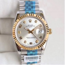 Replica Rolex Datejust 36 116233 36MM Stainless Steel & Yellow Gold Rhodium Dial