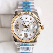 Replica Rolex Datejust 36 116233 36MM Stainless Steel & Yellow Gold Rhodium & Diamonds Dial