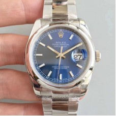 Replica Rolex Datejust 36MM 116200 Stainless Steel Blue Dial