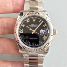 Replica Rolex Datejust 36MM 116234 Stainless Steel Black Dial