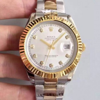 Replica Rolex Datejust 41 126333 41MM Stainless Steel & Yellow Gold White & Diamonds Dial