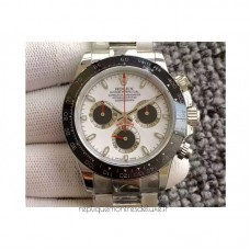 Replica Rolex Daytona Cosmograph 116500LN Stainless Steel White Dial & Black Subdials