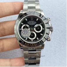 Replica Rolex Daytona Cosmograph 116500LN Stainless Steel Black Dial