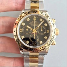Replica Rolex Daytona Cosmograph 116503 3A 18K Yellow Gold & Stainless Steel Black Dial